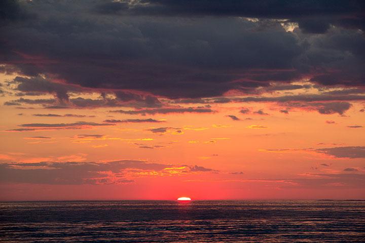 Solnedgång vid Mellbystrand